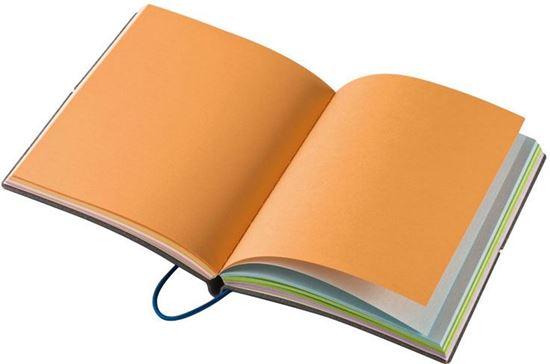 Picture of Notes z kolorowymi kartkami i gumką