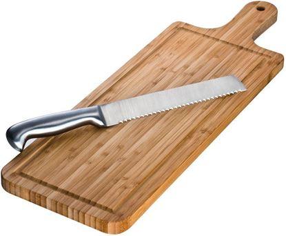 Picture of Bambusowa deska do krojenia z nożem
