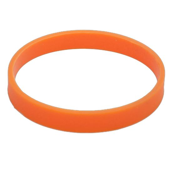Obrazek Ozdobna opaska na kubek izotermiczny, pomarańczowy