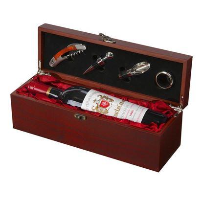 Picture of Skrzynka na wino z akcesoriami Angers, brązowy