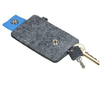 Picture of Etui na klucze Eco-Sense, niebieski/szary