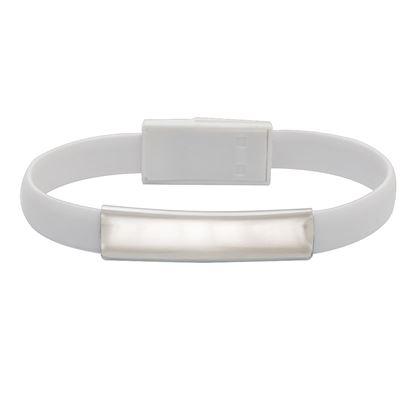 Picture of Kabel USB Bracelet, biały